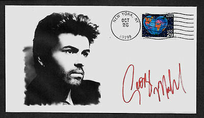George Michael Autograph Reprint Featured on Ltd Edt Collector Envelope *1047