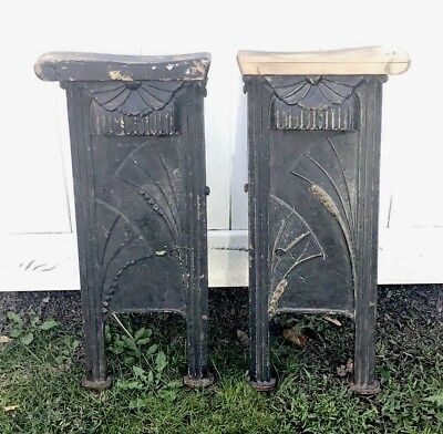 Antique Vintage Industrial Cast Iron Art Deco Movie Opera Theatre Side Stand