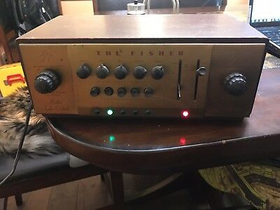 Vintage Fisher 80-C Preamp Master Audio Control