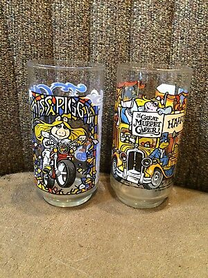 Lot Of 2 1981 Muppets Collector Glasses