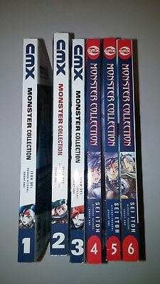 English manga lot Monster Collection volumes 1-6 complete sword sorcery