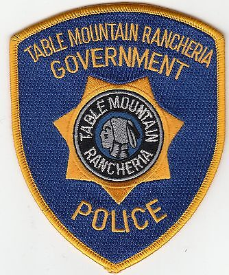 Table Mountain Rancheria Government Tribal Police Patch California Ca