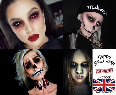 UK 1 Year Coloured Contact Lenses Crazy Halloween Fancy Makeup Cosplay Dress Up