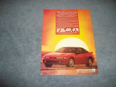 "1992 Mitsubishi Eclipse Vintage Ad ""The World is Getting Around"""