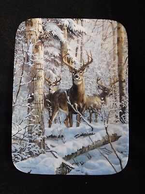 The Whitetails Pause First Winter Retreat Deer Plate by Bradford Exchange 1996
