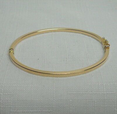 Vintage Estate 10K Gold BANGLE Bracelet - 3.6 Grams - 7.75  Inches Around