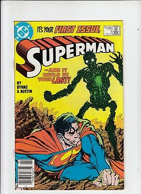 Superman #1 (1987) 1.00 Canadian Newsstand Price Variant VF/NM