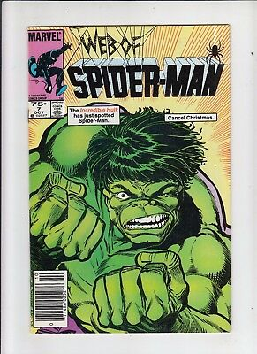 Web of Spider-Man #7 75 Cent Canadian Newsstand Price VF-