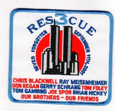 Company Fire Patch Fdny New York City Rescue 3 9 – 11 Crew Memorial Large