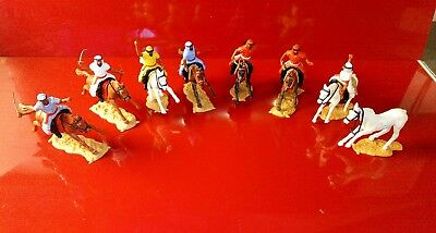 Timpo Toys 15 pc lot 8 horses and 7 riders decent shape