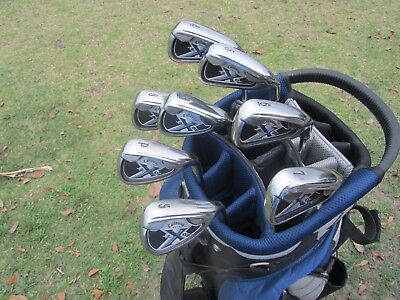 Callaway X-20 irons - 4 to Pw,Sw - Regular Flex steel