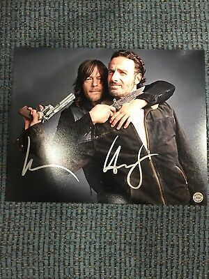 Andrew Lincoln & Norman Reedus Signed Autographed 8x10 Photo The Walking Dead