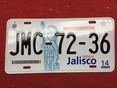 Jalisco Mexico License Plate Expired Graphic Background Jmc7236