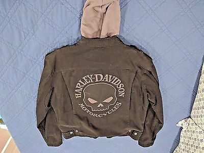 HARLEY DAVIDSON JACKET COTTON CANVAS SKULL 3 in 1 98415-08VM