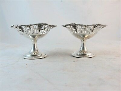 Pair Of Sterling Silver Bon Bon Dishes , Birmingham 1913