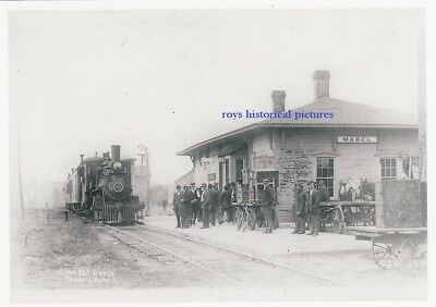 MABEL  MN  The Old CM & St P Railroad Depot & Station in March 1921