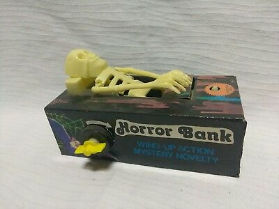 Vintage Ever Last mechanical wind-up Horror Monster Satan's Bank No Box