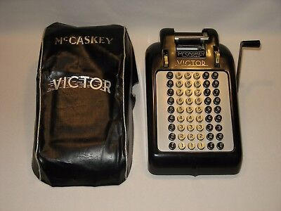 c.1939 Victor 54 Button Adding Machine w Dust Cover - Pristine Condition!!