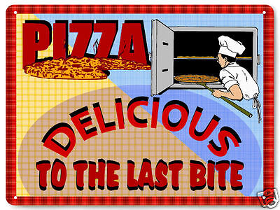 PIZZA PARLOR METAL sign retro style ITALIAN DINER restaurant DELI wall decor 073