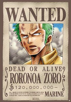 One Piece Zorro Wanted Poster