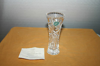 Lenox Fine Crystal Star Vase 6 inches Made in USA with COA