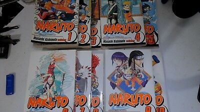 Volumes 1-10 of Naruto Manga (Varying Condition)