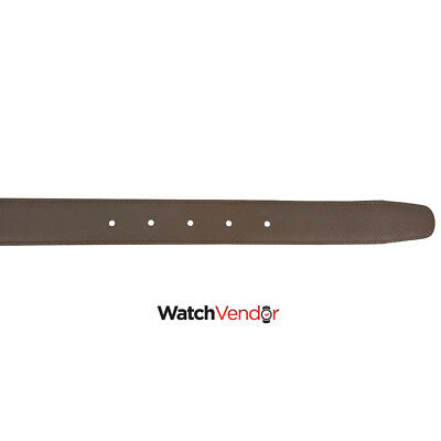 Montblanc Reversible Printed Leather Belt- Black / Brown