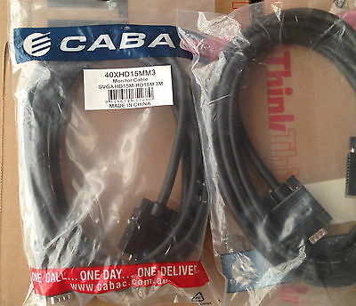 SVGA monitor screen Cabac HD15M 3M cable