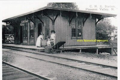 PLEASANT VALLEY  N Y  The Old C.N.E. Railroad Station & Depot in May 1913