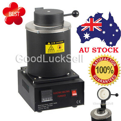Automatic Melting Furnace Melt 2kg Silver & Gold Pour Bar Digital Controller BLK