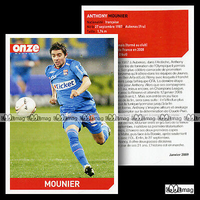 MOUNIER  ANTHONY (OLYMPIQUE LYONNAIS) - Fiche Football 2009