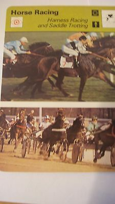Rare Rencontre Sportscaster Card Horse Racing  Harness Racing Saddle Trotting