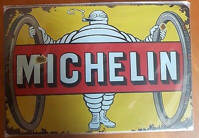 Michelin Tyres tin sign. Mancave Signs Aussie Seller