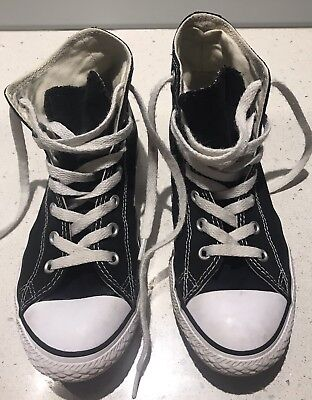 Converse Black High Tops - Youth - Size 3