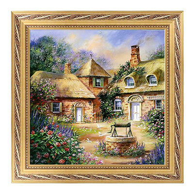 DIY 5D Diamond Painting House-Embroidery Cross Crafts Stitch Home Decor