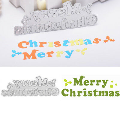 Merry Christmas Cutting Dies Stencil Scrapbook Paper Cards Craft Embossing DIY
