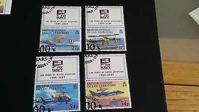 British Indian Ocean Territory 2009 Sg 403-406 Cent Of Naval Aviation Used