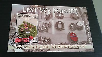 British Indian Ocean Territory 2008 Sg Ms391 90Th Anniv Of End Of War Used