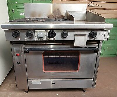 4 burner oven with hotplate