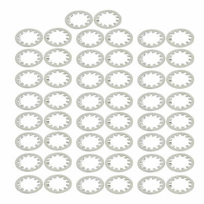 16mm Inner Dia Carbon Steel Zinc Plated Internal Tooth Lock Washer 50pcs