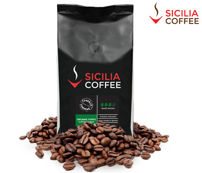 1kg ORGANIC FORTE Fresh Coffee Beans, 100% Arabica, Strong, Smooth