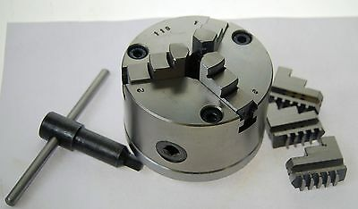 100 mm 3 Jaw Self Centering Lathe Chuck 1 1/8 x 12 TPI to suit Myford ML7 etc