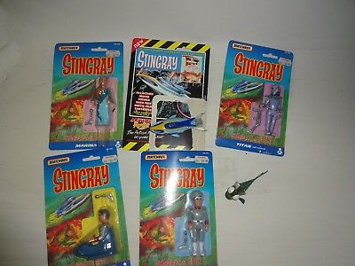 MATCHBOX - 4 x FIGURES Packaged, STINGRAY & TERRORFISH Unboxed - 1992