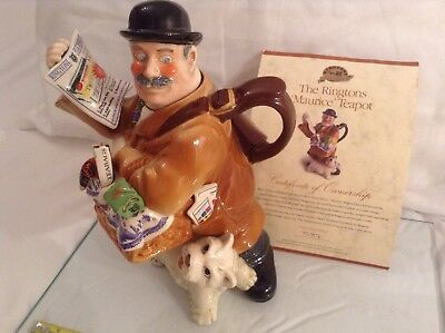 Cardew Collectable Novelty Large Teapot Of Maurice Delivery Man Perfect Conditon