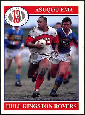 Asuqou Ema #53 Hull Kingston Rovers Merlin Rugby Football League 1991 Card(C599)