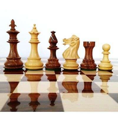 """3.7"""" British Staunton Weighted Chess Pieces set with Extra Queens sheesham wood"""