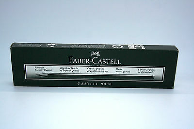 BOX OF 12 x FABER-CASTELL 9000 QUALITY BLACKLEAD PENCILS - VARIOUS GRADES