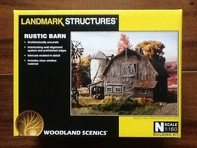 Woodland Scenics New 1/160 N Scale Old Rustic Barn Pre-Fab Kit # PF 5211 F/S