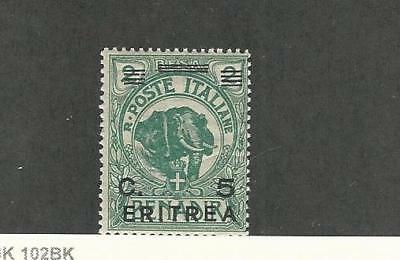 Eritrea (Italy), Postage Stamp, #59 Mint NH, 1922 Elephant