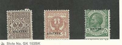 Eritrea (Italy), Postage Stamp, #88-90 Mint Hinged, 1924